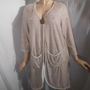Nwt $99 KAKTUS Large Open Front cardigan Top